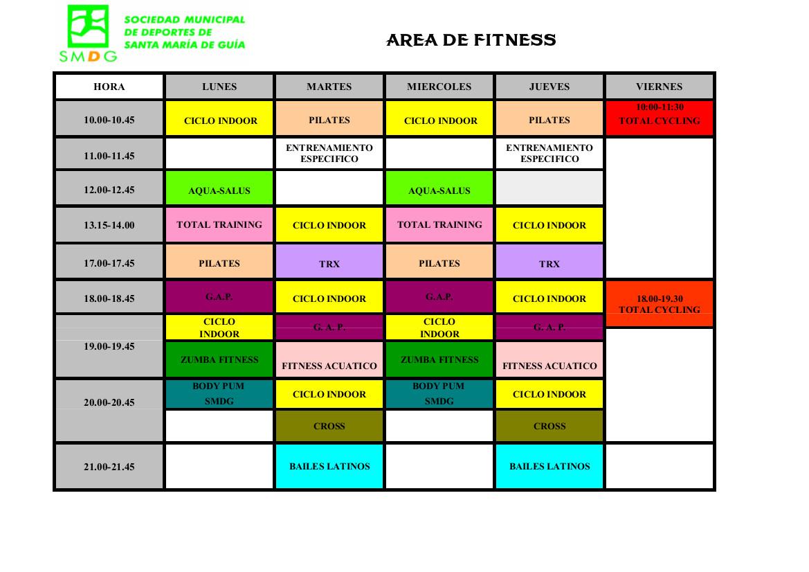 CUADRANTE ACTIVIDADES 23-07-2016