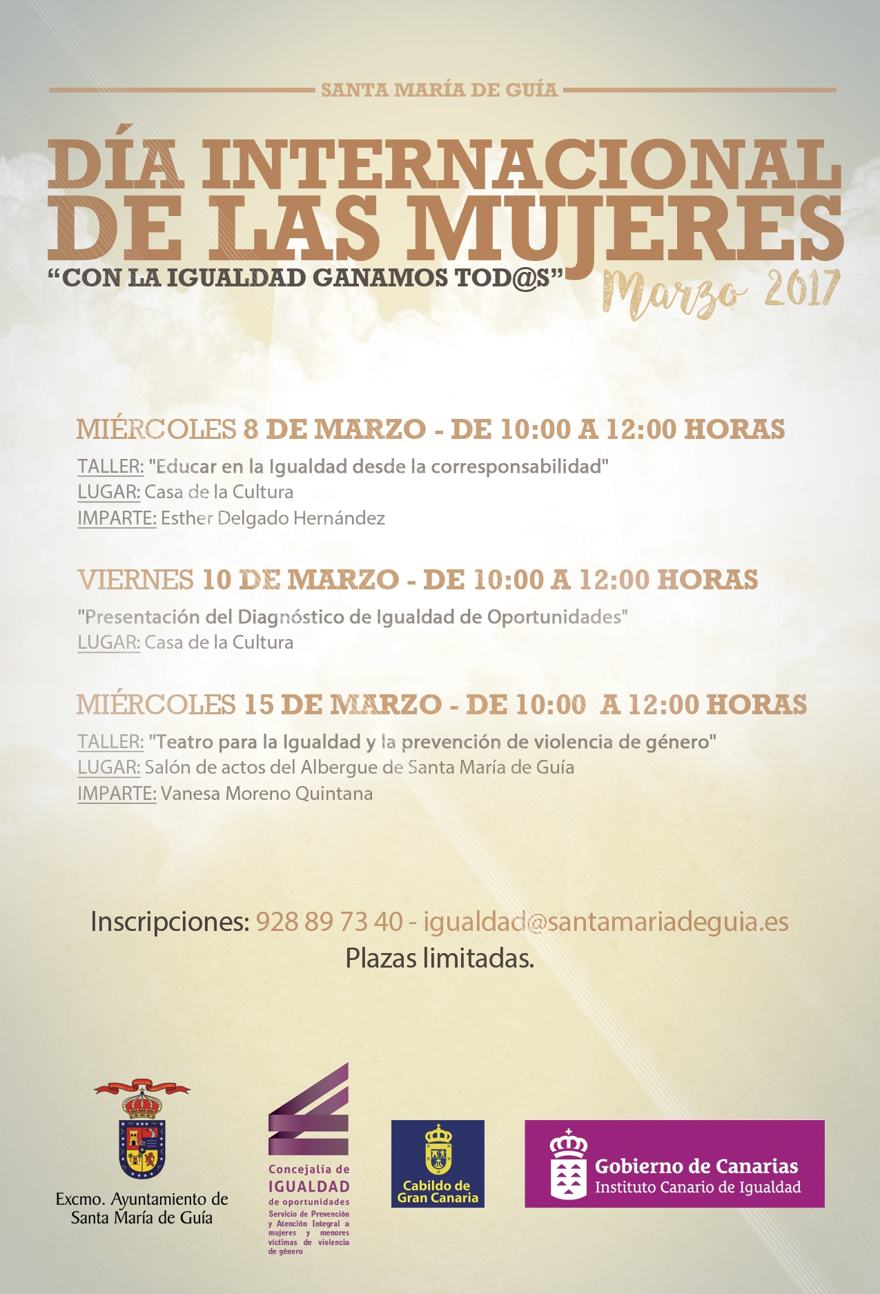 CARTEL DIA INTERNACIONAL DE LAS MUJERES MARZO 2017