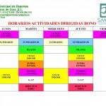 HORARIO ACTIVIDADES DIRIGIDAS SEPTIEMBRE 2017