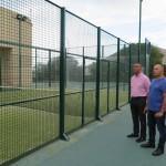 Obras de mejoras en las pistas de padel y tenis