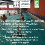 Cursos de Natación Para Niños: En Julio y Agosto ampliamos con horario de mañana